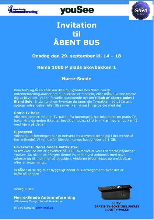 YouSee bus ved Rema d. 29. september #nyhed