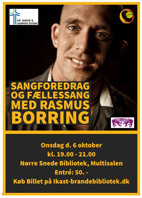 Sangforedrag og fællessang med Rasmus Skov Borring